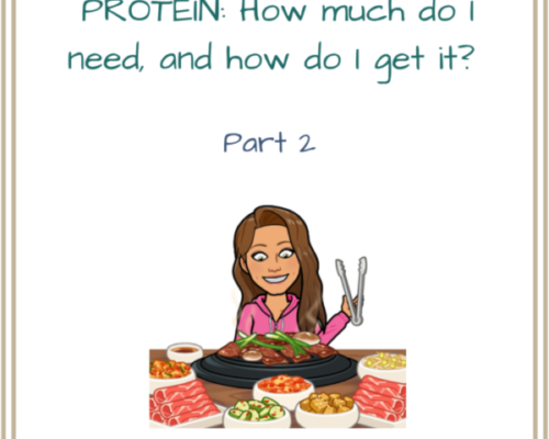 Protein PART 2: How much do you need and where to get it.